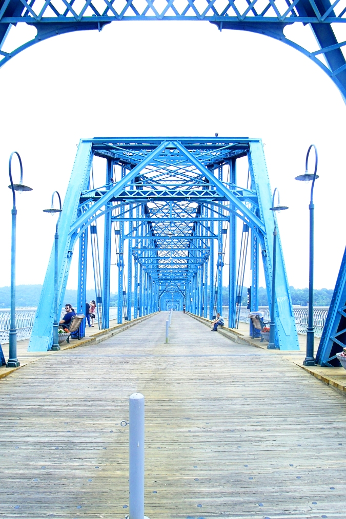 The Walnut Street Bridge was built in 1890 to connect downtown to the North Shore.
